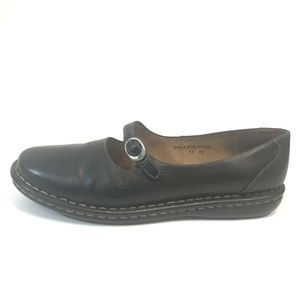 BORN Womens Black Leather Mary Jane Comfort Shoes